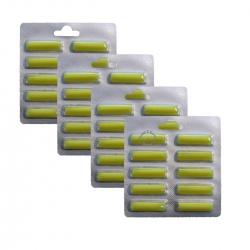4 x 10 Duftstäbchen Duft Zitrone für viele Staubsauger > Kirby / AEG / Vorwerk / Miele / Bosch / Lux / Siemens