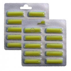 2 x 10 Duftstäbchen Duft Zitrone für viele Staubsauger > Kirby / AEG / Vorwerk / Miele / Bosch / Lux / Siemens